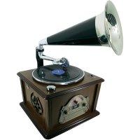 Retro gramofon s CD a rádiem SoundMaster NR912