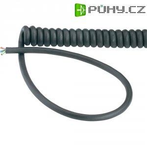Spirálový kabel 0,3 m,3x 0,75 mm², černý