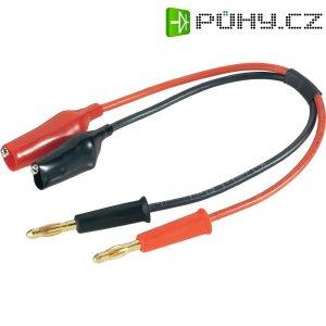 Adaptérový kabel pro napájecí zdroje Modelcraft 208351, [2x banánková zástrčka - 2x ], 250 mm, 2.5 mm²