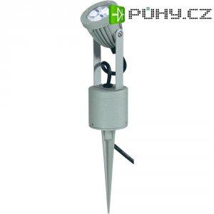 Venkovní zapichovací LED svítidlo, 230 V, stříbrnošedá