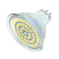 Žárovka LED MR16/12V 60SMD 4W - bílá teplá