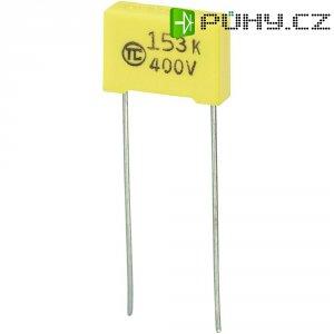 Foliový kondenzátor MKS, 0,015 µF, 400 V, 5 %, 13 x 4 x 9 mm