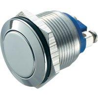 Tlačítko antivandal TRU COMPONENTS GQ 19F-S, 48 V/DC, 2 A, nerezová ocel, 1 ks