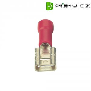Faston zásuvka Vogt Verbindungstechnik 3903S 6.3 mm x 0.8 mm, 180 °, částečná izolace, červená, 1 ks