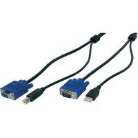 KVM kabel Digitus AK 82301, 1.8 m, černá