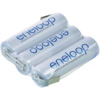 Akupack s pájecími kontakty Sanyo eneloop AA, 3,6 V, 2000 mAh