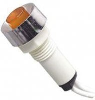 Kontrolka 230V s doutnavkou, žlutá do otvoru 10mm, vývody