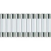 Jemná pojistka ESKA středně pomalá 528013, 250 V, 0,4 A, skleněná trubice, 5 mm x 25 mm, 10 ks