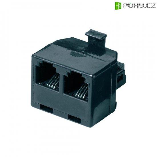 ISDN Y adaptér, AWG rovný, černá, 1x RJ11 (M) 6p4c / 2x RJ11 (F) 6p4c - Kliknutím na obrázek zavřete