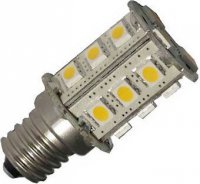 Žárovka LED E14 12V, 27xSMD5050, bílá teplá