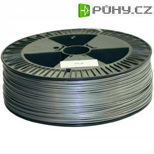 Náplň pro 3D tiskárnu, German RepRap 100176, PLA, 3 mm, 2,1 kg, stříbrná
