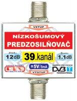Anténní zesilovač DVB-T 39K 5V 12dB F-F