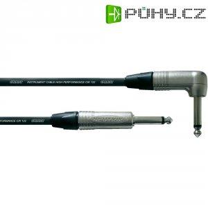Kytarový kabel lomený JACK 6,3 mm Cordial Pro Line CIK 122, 6 m, černá