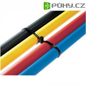 Stahovací pásek s dvojitou hlavou HellermannTyton T50IDH-W-BK-C1, 305 x 4,7 mm, černá