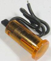 Kontrolka 12V oranžová, průměr 12,5mm, drátové vývody