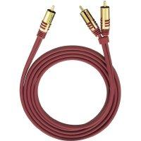 Připojovací kabel Oehlbach, cinch zástr./cinch zástr., červený, 3 m