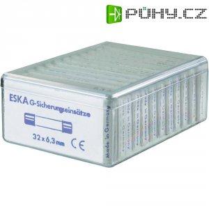 Jemná pojistka ESKA pomalá 632830, 6,3 mm x 32 mm, 120 Parts