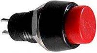 Vypínač stiskací OFF-ON 1pólový 250V/1A červený