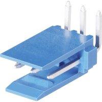 Kolíková lišta HE14 TE Connectivity 281698-4, úhlová, 2,54 mm, 3 A, modrá