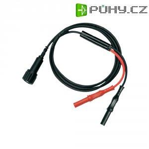 Měřicí kabel Testec 7066-IEC-50-100-S, 1 m, černá/červená
