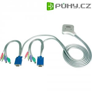 Propojovací kabel (KVM přepínač), 2x PS/2, 3,5 mm jack, VGA konektor, Digitus