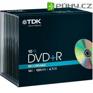 TDK DVD+R 4,7GB 16X 10 ks JEWELCASE