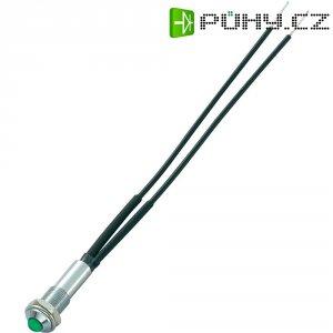 Neonová signálka Sedeco, Ø 6,2 mm, mosaz, zelená