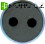 Ferit -dvouděrové jádro průměr 8mm v=6mm, neznámý materiál