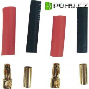 Kontakt pájecí 3,5 mm Modelcraft, zástrčka a zásuvka, zlacený, 2 páry