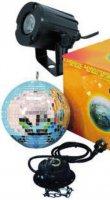 LED zrcadlová koule s motorem Eurolite, 50101856, 20 cm