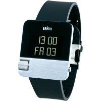 Digitální náramkové hodinky Braun Prestige, gumový pásek, černá