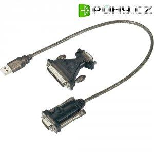 Sériový adaptér USB 1.1, černý , 0,4 m