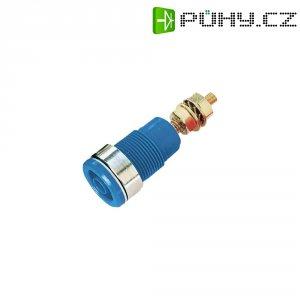 Laboratorní zásuvka SKS Hirschmann SEB 2600-G (972354102), vestavná vertikální, Ø 4 mm, modrá