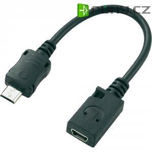 Adaptér USB 2.0, černý, 0,08 m