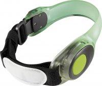 Bezpečnostní LED svítidlo Meteor s upevňovacím páskem na ruku, zelená