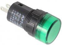 Kontrolka 12V LED 19mm, zelená