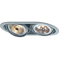 Vestavné svítidlo Sygonix Bari AR111 34649V, 2x 100 W, G53, šedá