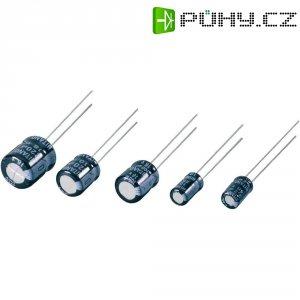 Kondenzátor elektrolytický, 10 µF, 50 V, 20 %, Ø 5 mm, výška 7 mm