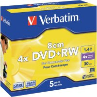 Verbatim DVD+RW 1,4GB 8CM 4X 5 ks JC