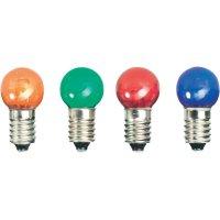 LED žárovka E10, 52221211, 12 V, červená