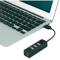 USB 2.0 hub, 4-portový, se spínačem