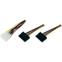 Rozbočovač napájecího kabelu pro HDD, molex ⇔ 2x SATA, 0,16 m