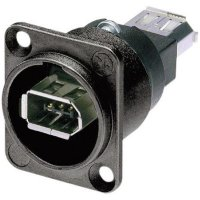 Konektor FireWire Neutrik NA1394-6-W-B, zásuvka vestavná, černá
