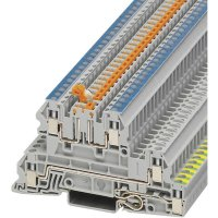 Vícenás. instalační svorka Phoenix Contact UTI 2,5-PE/L/NTB (3076032), šroubovací, šedá