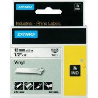Páska do štítkovače DYMO 18444 (S0718600), 12 mm, IND RHINO, 5,5 m, černá/bílá