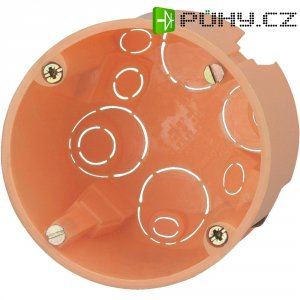 Krabice do dutých zdí 348600003, hloubka 68 mm, oranžová
