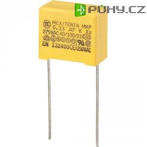 Foliový kondenzátor MKP, 0,33 µF, X2 275 V/AC, 10 %, 18 x 10 x 16 mm