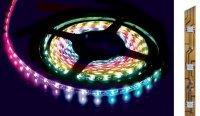 LED pásek RGB - 12V 10mm LED 5050 - samolepící
