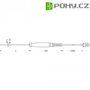 Teplotní čidlo Greisinger GTF 1200, typ K, -200 až +1150 °C, 100940