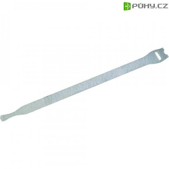 Kabelový manažer na suchý zip Fastech 803-010, (d x š) 300 mm x 16 mm, bílá, 10 ks - Kliknutím na obrázek zavřete